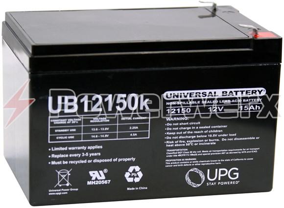 Picture of UPG UB12150 40672 12V 15Ah F2 Terminal Sealed Lead Acid (SLA) Battery