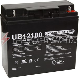 Picture of UPG UB12180 D5745 12V 18Ah T4 Terminal Sealed Lead Acid (SLA) Battery