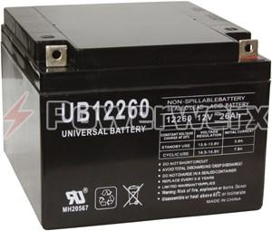 Picture of UPG UB12260 D5747 12V 26Ah T3 Terminal Sealed Lead Acid (SLA) Battery