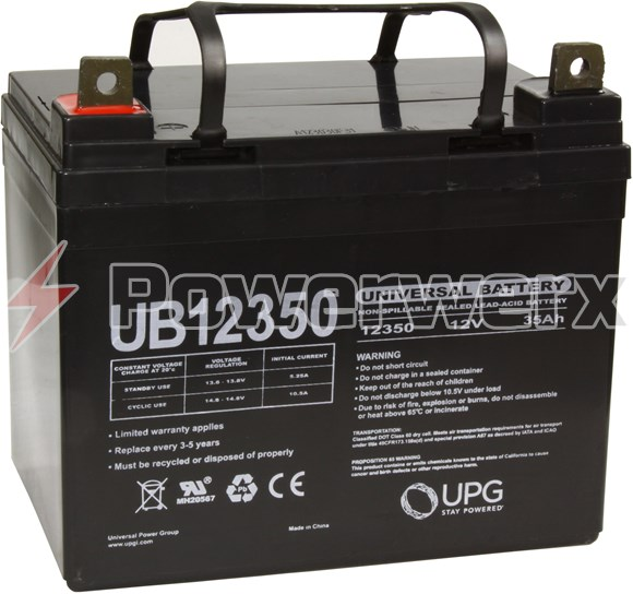 Picture of UPG UB12350 D5722 Group U1 12V 35Ah L1 Terminal Sealed Lead Acid (SLA) Battery