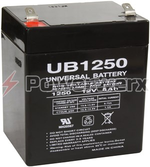 Picture of UPG UB1250 D5741 12V 5Ah F1 Terminal Sealed Lead Acid (SLA) Battery