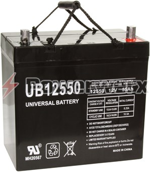 Picture of UPG UB12550 Group 22NF 12V 55Ah Z1 Terminal Sealed Lead Acid (SLA) Battery