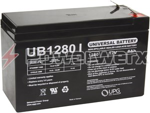 Picture of UPG UB1280 D5779 12V 8Ah F2 Terminal Sealed Lead Acid (SLA) Battery