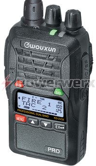 Picture of Wouxun KG-UV3X Pro Dual Band VHF/UHF 125 Channel Handheld Commercial Radio